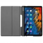Lenovo Yoga Smart Tab 10.1 (YT-X705F, YT-X705L) atverčiamas auksinis odinis dėklas - knygutė