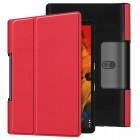 Lenovo Yoga Smart Tab 10.1 (YT-X705F, YT-X705L) atverčiamas raudonas odinis dėklas - knygutė