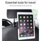 """""""Lenuo"""" juodas automobilinis telefono / planšetės laikiklis tvirtinamas prie galvos atlošo"""