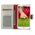 LG G2 mini D620 baltas odinis atverčiamas dėklas - piniginė