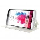 Roar Noble atverčiamas LG G3 D855 (D850, D851) baltas odinis dėklas