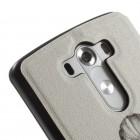 """LG G3 D855 (D850, D851) """"Lady"""" atverčiamas dėklas su langeliu - baltas"""
