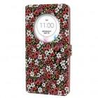 """""""Flowers"""" serijos LG G3 D855 spalvotas odinis atverčiamas dėklas"""