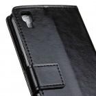LG X Power (K220) atverčiamas juodas odinis dėklas - knygutė