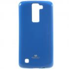 LG K8 mėlynas Mercury kieto silikono (TPU) dėklas - nugarėlė
