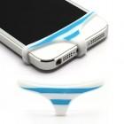 """Balti su mėlynomis juostelėmis telefono minkšto silikono apatiniai (""""triusikai"""")"""