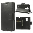 Mercury Sonata atverčiamas LG G3 juodas odinis dėklas - piniginė