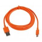 Micro usb 1.0 oranžinis laidas 1 m. (kabelis)
