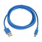 Micro usb šviesiai mėlynas laidas 1 m. (kabelis)