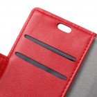 Motorola Moto G4, Moto G4 Plus atverčiamas raudonas odinis dėklas, knygutė - piniginė