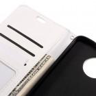 Motorola Moto Z (Moto Z Droid) atverčiamas baltas odinis dėklas - piniginė