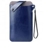 MQ universali mėlyna odinė įmautė - dėklas (XL dydis)