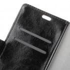 Nokia 8 Sirocco (Nokia 9) atverčiamas juodas odinis dėklas, knygutė - piniginė