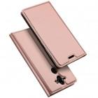 """""""Dux Ducis"""" Skin serijos Nokia 8 Sirocco (Nokia 9) rožinis odinis atverčiamas dėklas"""