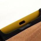 Juodas atverčiamas Nokia Lumia 520 dėklas