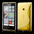 Skaidrus silikoninis Nokia Lumia 520 dėklas