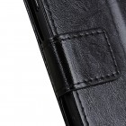 OnePlus 7 (OnePlus Seven) atverčiamas juodas odinis dėklas, knygutė - piniginė