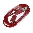 Micro usb raudonas laidas 1 m. (kabelis)
