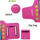 """""""Romix"""" Led dėklas sportui (raištis ant rankos) - rožinis, universalus (L dydis)"""
