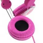 """""""Wallytech"""" rožinės ausinės su lankeliu (gėlėtos)"""