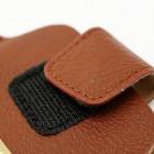 Ruda odinė įmautė telefonui su kišenėle (L dydis - Apple iPhone 6)