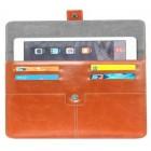Universali ruda odinė kompiuterinės planšetės įmautė, vokas, 8 colių planšetėms
