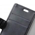 Samsung Galaxy A5 2017 (A520) atverčiamas juodas odinis dėklas - piniginė