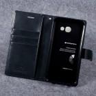 Mercury Blue Moon atverčiamas Samsung Galaxy A5 2017 (A520) juodas odinis dėklas - piniginė