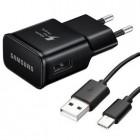 """Originalus """"Samsung"""" Fast Charger juodas kelioninis (sieninis) įkroviklis su USB Type-C laidu EP-TA20EBE"""
