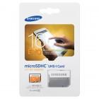 """""""Samsung"""" Evo MicroSD atminties kortelė 16 Gb, 10 Klasė su SD adapteriu"""