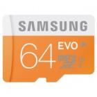 """""""Samsung"""" Evo MicroSD atminties kortelė 64 Gb, 10 Klasė su SD adapteriu"""