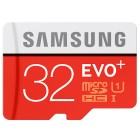 """""""Samsung"""" Evo Plus MicroSD atminties kortelė 32 Gb, 10 Klasė su SD adapteriu"""
