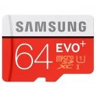"""""""Samsung"""" Evo Plus MicroSD atminties kortelė 64 Gb, 10 Klasė su SD adapteriu"""
