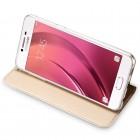 """""""Dux Ducis"""" Skin serijos Samsung Galaxy A5 2017 (A520) auksinis odinis atverčiamas dėklas"""
