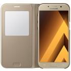 Samsung Galaxy A5 (2017) A520 originalus S View Cover atverčiamas auksinis dėklas su langeliu