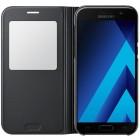 Samsung Galaxy A5 (2017) A520 originalus S View Cover atverčiamas juodas dėklas su langeliu