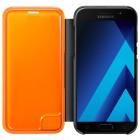 Samsung Galaxy A5 (2017) A520 originalus Neon Flip Cover EF-FA520 atverčiamas juodas odinis dėklas - piniginė