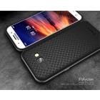 """Samsung Galaxy A5 2017 (A520) """"IPAKY"""" kieto silikono TPU juodas (pilkos spalvos apvadais) dėklas - nugarėlė"""
