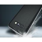 """Samsung Galaxy A5 2017 (A520) """"IPAKY"""" kieto silikono TPU juodas (sidabro spalvos apvadais) dėklas - nugarėlė"""