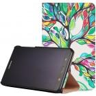 Samsung Galaxy Tab A 7.0 2016 (T280, T285) atverčiamas spalvotas, baltas odinis dėklas - knygutė