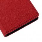 Samsung Galaxy J1 (J100) Mercury raudonas atverčiamas dėklas - piniginė