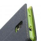 """Mercury"" Fancy Samsung Galaxy Note 3 (N9005, N9002, N9000) mėlynas odinis dėklas"