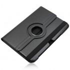 Atverčiamas juodas odinis Samsung Galaxy Note 10.1 N8000 (N8010) dėklas (dėkliukas), sukiojamas 360°