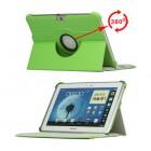 Atverčiamas žalias odinis Samsung Galaxy Note 10.1 N8000 (N8010) dėklas (dėkliukas), sukiojamas 360°