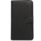 Samsung Galaxy Note 2 N7100 atverčiamas juodas odinis dėklas (dėkliukas) - stovas