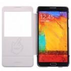 Samsung Galaxy Note 3 Baseus Folio atverčiamas baltas dėklas
