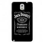 Samsung Galaxy Note 3 (N9005, N9002, N9000) Jack Daniels plastikinis juodas dėklas - nugarėlė