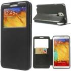 Roar Noble atverčiamas Samsung Galaxy Note 3 (N9005, N9002, N9000) juodas odinis dėklas