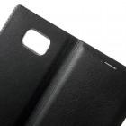 Samsung Galaxy Note 7 (N930) juodas odinis atverčiamas Smart Wallet dėklas - piniginė