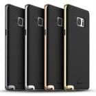 """Samsung Galaxy Note 7 (N930) """"IPAKY"""" kieto silikono TPU juodas (pilkais apvadais) dėklas - nugarėlė"""